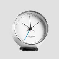 【マラソン期間¥100-2000クーポン】GEORG JENSEN ジョージ ジェンセン/KOPPEL/置き時計・アラームクロック SS WH/φ10 [北欧 おしゃれな置き時計・アラームクロックはジョージ ジェンセン]