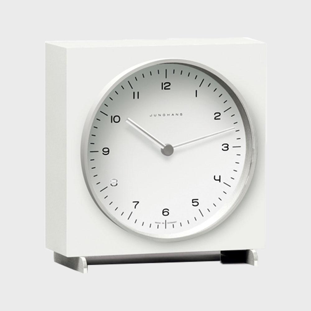 【マラソン期間¥100-2000クーポン】マックスビル max bill(ユンハンス junghans)置き時計/White [ユンハンス おしゃれ置き時計はマックスビル max bill]