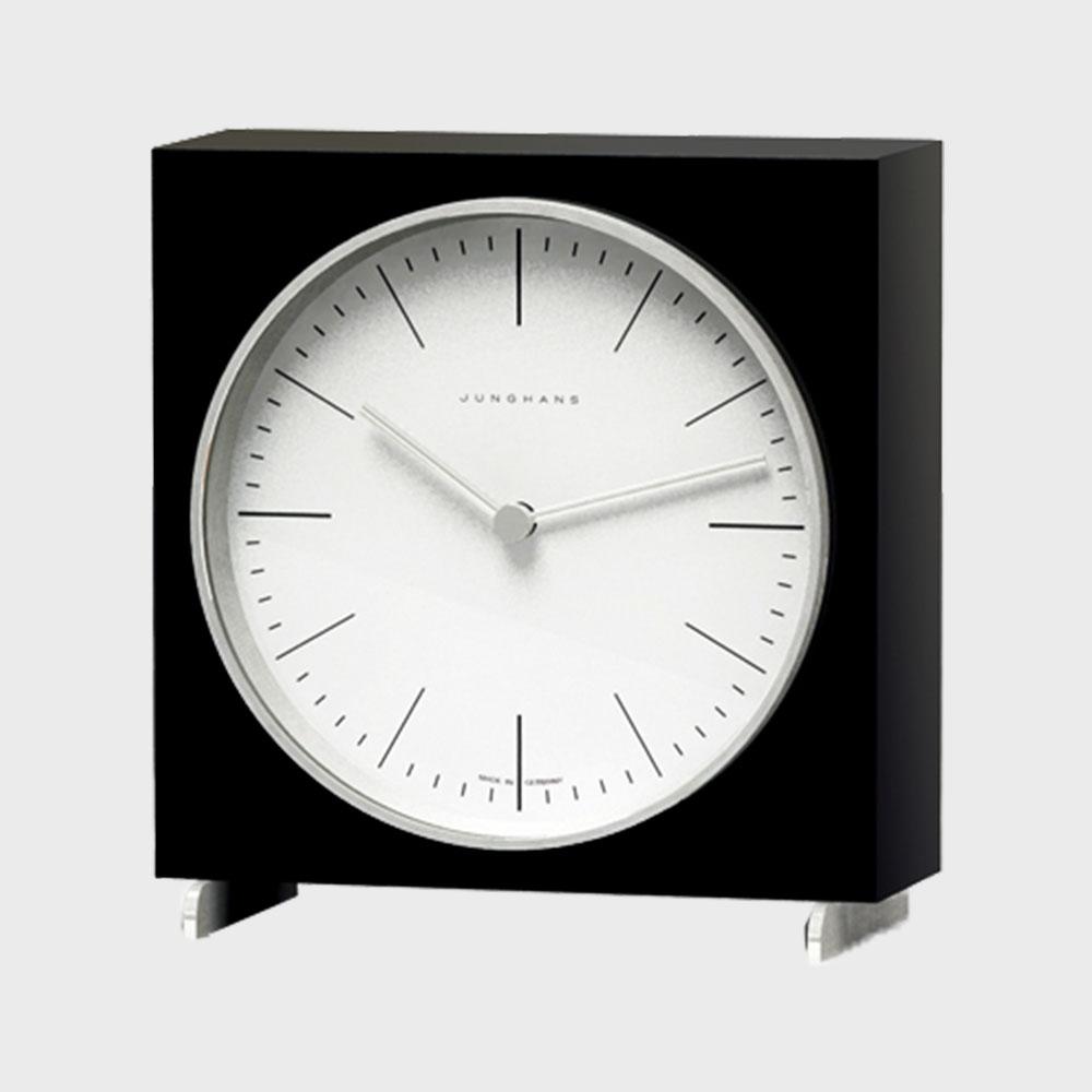 【100円offクーポン】マックスビル max bill(ユンハンス junghans)置き時計/Black [ユンハンス おしゃれ置き時計はマックスビル max bill]
