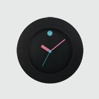 【マラソン期間¥100-2000クーポン】黒川雅之/GOM/ウォールクロック ピンク+ブルー/FROSTED GRASS