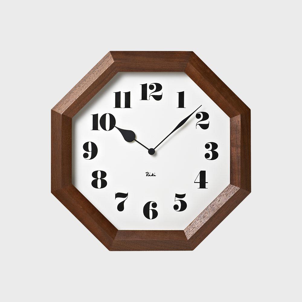 【100-2000円offクーポン】Lemnos/掛時計/渡辺力/八角の時計 WR11-01【楽ギフ_包装選択】