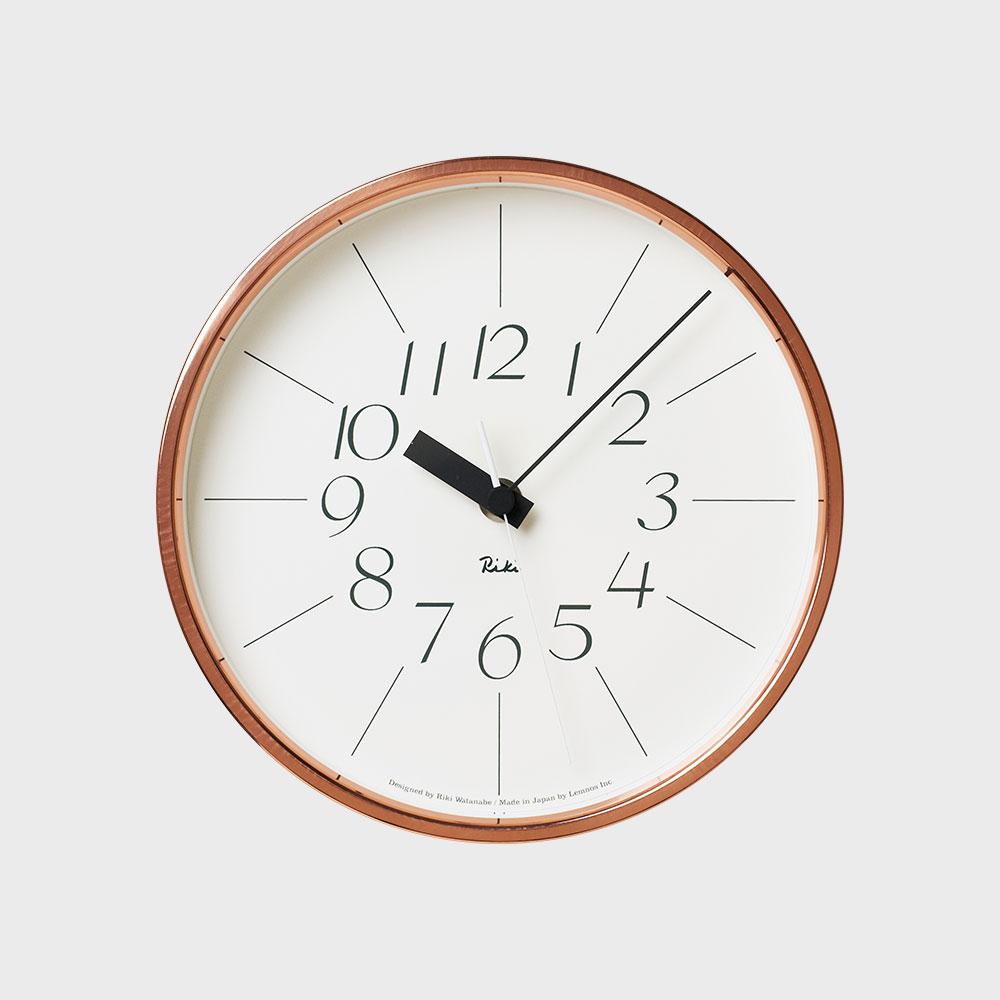 Lemnos/掛時計/渡辺力/銅の時計 WR11-04【楽ギフ_包装選択】