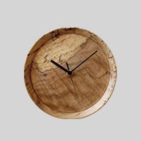 【4/11 20:00- 70h限定早割10%OFFクーポン】RetRe リツリ/虫喰い木材の壁掛け時計 丸