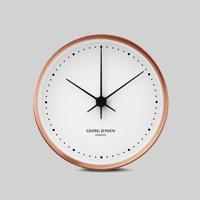 【100-3000円offクーポン】Georg Jensen ジョージ ジェンセン/HK CLOCK COPPER/WHITE Φ20cm