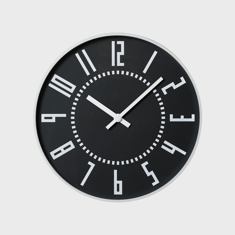 五十嵐威暢 札幌駅時計 掛時計 eki clock エキクロック ブラック [ デザイナーズ ウォールクロック:五十嵐威暢 ]