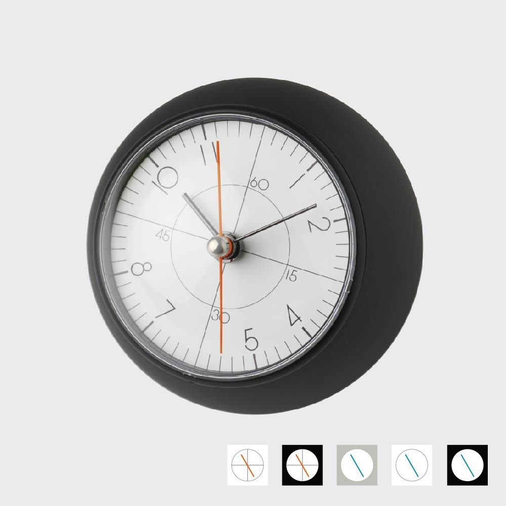 【100円クーポン】五十嵐威暢/earth clock アースクロック/テーブルクロック 置時計/TIL16-10BK