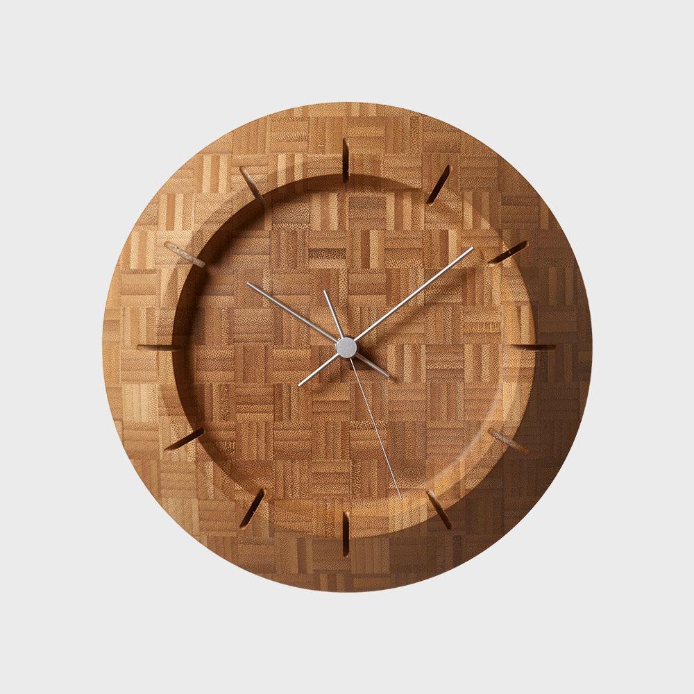 レムノス 榎本文夫 掛け時計 Take-Clock [ Lemnosのデザイナーズウォールクロックシリーズ ]