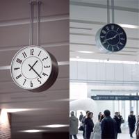 50 폭풍우 威 暢 삿포로 역 시계 벽 시계 eki clock エキクロック 화이트