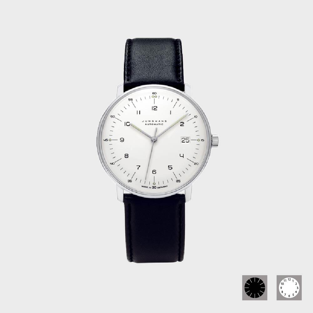 【100円クーポン】ユンハンス マックスビル(junghans max bill)腕時計 日付表示付(自動巻き)[おしゃれ腕時計はユンハンス マックスビル max bill]