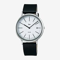 【100円クーポン】Riki Watch/AKPD021/シンプルモダンソーラー/ホワイト×ブラック