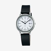 【100円クーポン】Riki watch シンプルモダンソーラー/ホワイト×ブラック AKQD028