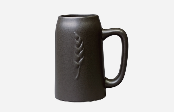 야나기무네미치/세라믹/맥주 조끼/흰색