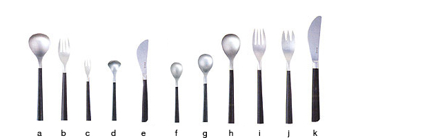 Sori Yanagi / Cutlery / Hime fork (Black handle)