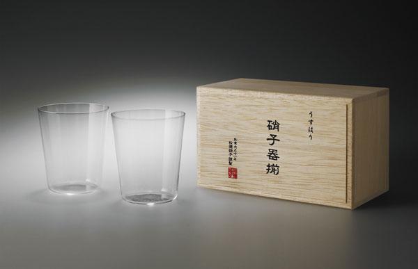 松徳硝子/うすはりグラス オールド3種セット 木箱入
