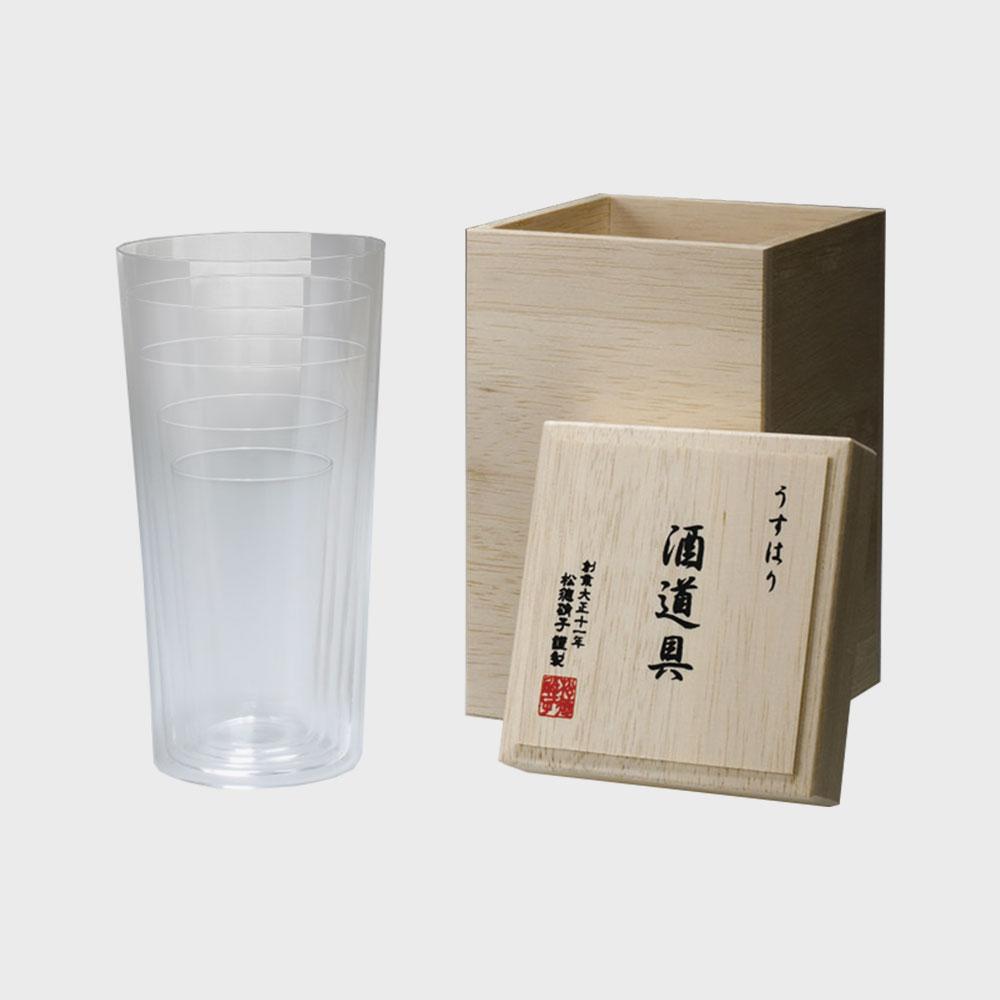 松徳硝子/うすはりグラス/タンブラーSS・S・M・L・LL 5種セット/木箱入