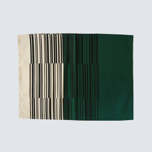 야나기 직물/매트/바코드 무늬 브라운 A [야나기/패브릭/런 천 매트는 바코드 디자인] [M 편 1/4]
