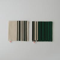 야나기무네미치 패브릭/코스터/바코드무늬 그린 2 매 셋트[야나기무네미치/패브릭/코스터는 바코드무늬][M편1/4]