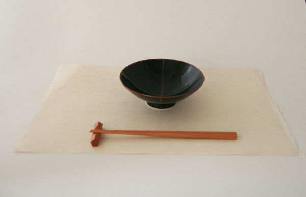 One piece of Higashiyama Japanese paper / luncheon mat (lunch mat place mat) 未晒紙 / washable water-repellent processing