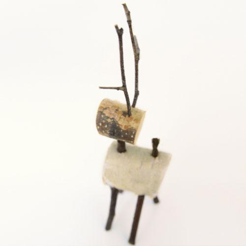 Among Christmas ornament / white birch reindeer / ornament, art object / [as for the Christmas ornament reindeer / ornament, art object]