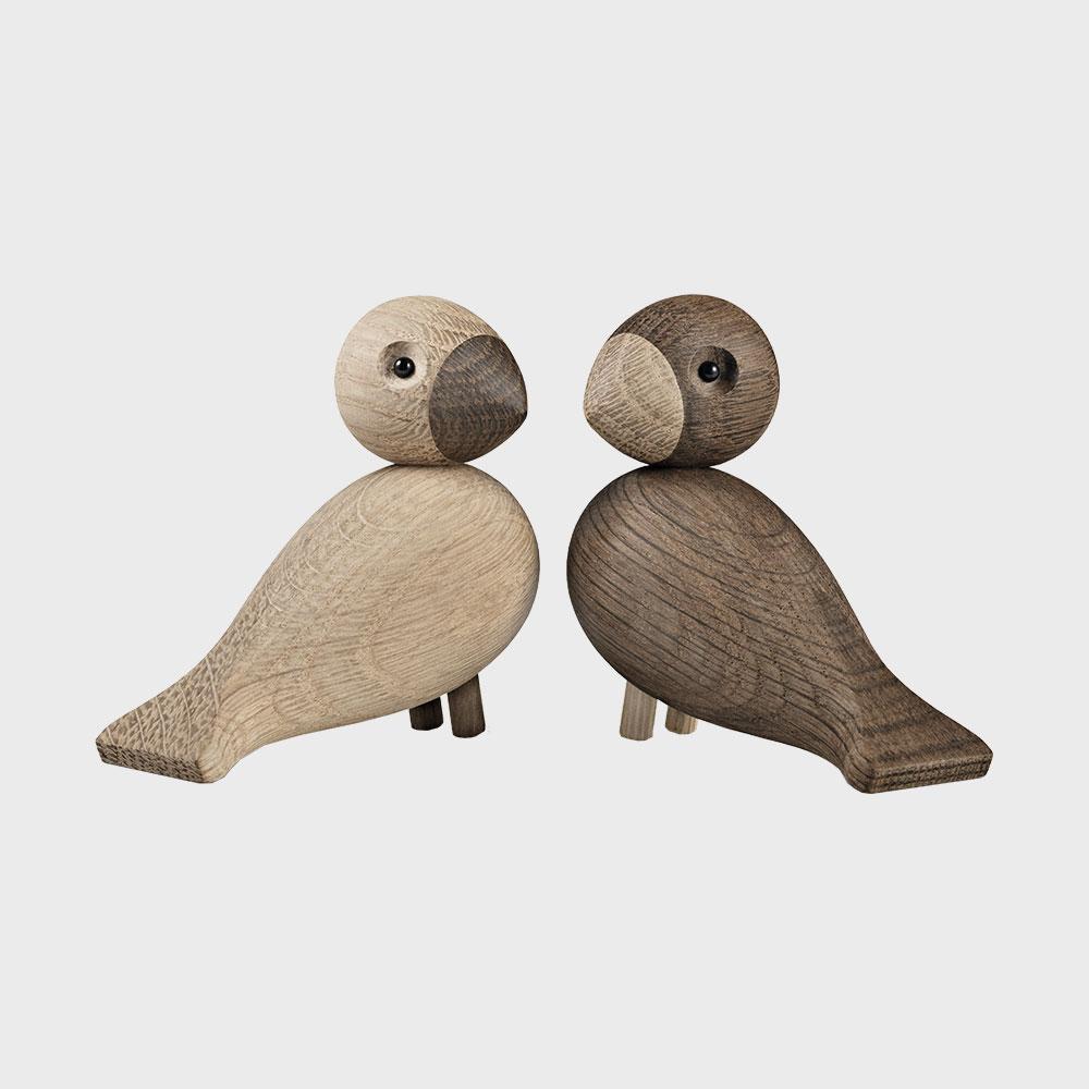 【100-3000円offクーポン】KAY BOJESEN カイ ボイスン/木製 オブジェ 小鳥/ペア・ラブバード [ モンキー 小鳥などカイボイスンの木製オブジェ ]