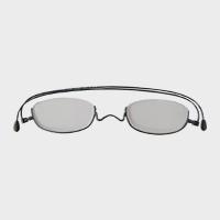 コンパクトな携帯用老眼鏡 paperglass アンダーリム ベーシックグレー [ おしゃれなメンズ・レディース兼用/男性用・女性用シニアグラス ]