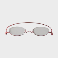 【100円クーポン】paperglass 老眼鏡 アンダーリム ベーシックレッド