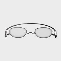 【新品展示品OUTLET/30%off】コンパクトな携帯用老眼鏡 paperglass オーバル ベーシックグレー +2 [ おしゃれなメンズ・レディース兼用/男性用・女性用シニアグラス ]