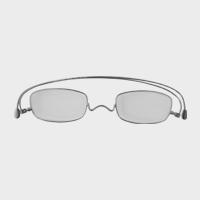 コンパクトな携帯用老眼鏡 paperglass スクエア ベーシックシルバー [ おしゃれなメンズ・レディース兼用/男性用・女性用シニアグラス ]