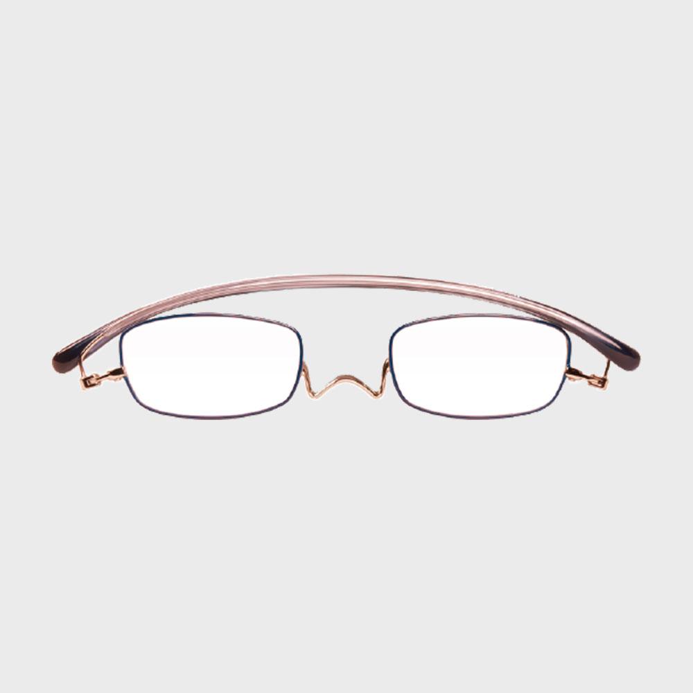 【新品展示品OUTLET/30%off】コンパクトな携帯用老眼鏡 paperglass スクエア ベーシックピンク [ おしゃれなメンズ・レディース兼用/男性用・女性用シニアグラス ]