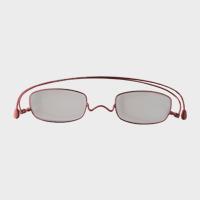 【新品展示品OUTLET/30%off】コンパクトな携帯用老眼鏡 paperglass スクエア ベーシックレッド +2 [ おしゃれなメンズ・レディース兼用/男性用・女性用シニアグラス ]