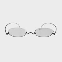【新品展示品OUTLET/30%off】コンパクトな携帯用老眼鏡 paperglass アンダーリム マットブラック +2 [ おしゃれなメンズ・レディース兼用/男性用・女性用シニアグラス ]