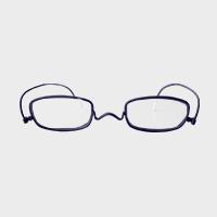 【100円クーポン】paperglass 老眼鏡 スクエア マットネイビー