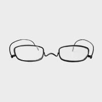【100円クーポン】paperglass 老眼鏡 スクエア マットブラック