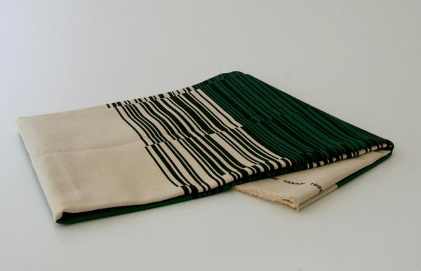 Sori Yanagi / Multi-purpose Fabric with Stripe Patterns Green / Textile, Cushion, Curtain