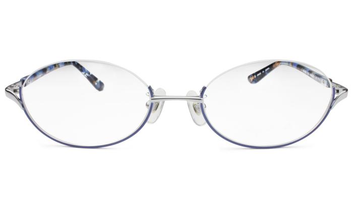 アニエスベー agnis b 50-0029 c.2 シルバー/ネイビー アンダリーム メガネ 眼鏡 新品 送料無料