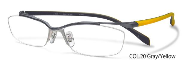 DUN ドゥアン 老眼鏡 遠近両用 グレイ/イエロー 老眼鏡 遠近両用 メガネ 眼鏡 日本製 送料無料 dun-2039 c.20 dn006