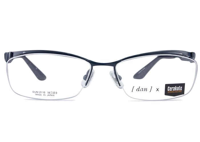 ■ドゥアン DUN■dun-2110 c.6 dun2 マッドネイビーブルー■伊達 メガネ めがね 眼鏡■度付き メンズ レディース 新品 送料無料