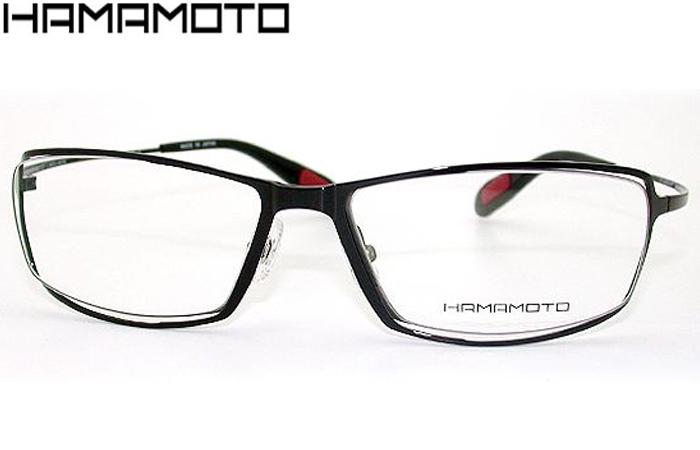ハマモト HAMAMOTO ht-076 c.3 ブラック/グレーマット 伊達 メガネ めがね 眼鏡 新品 送料無料 ht001
