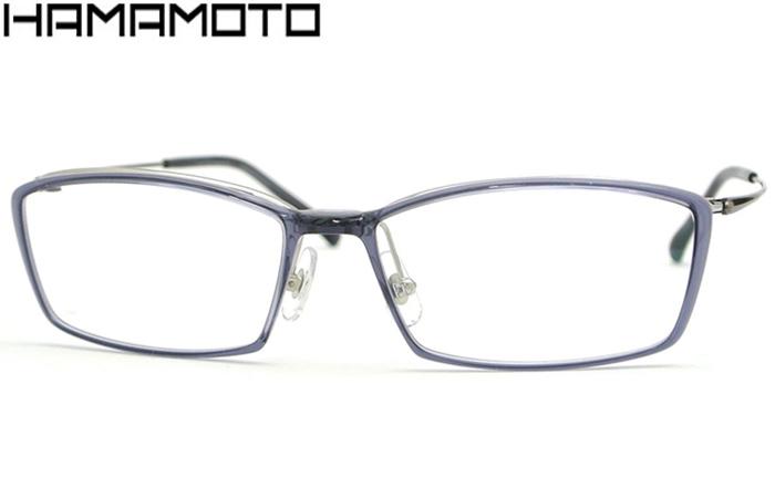 ハマモト HAMAMOTO ht-121-c3 ブルーグレー/シャーリンググレー 伊達 メガネ 眼鏡 新品 送料無料 ht6