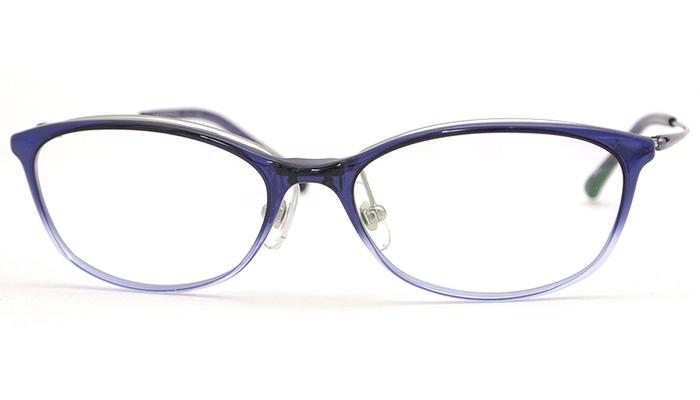 ハマモト HAMAMOTO 老眼鏡 遠近両用 伊達 メガネ 眼鏡 新品 送料無料 バイオレットハーフ/バイオレット ht-123 c.3
