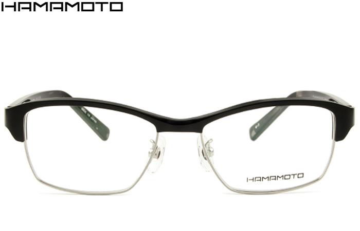 ハマモト HAMAMOTO 伊達 メガネ 眼鏡 新品 送料無料 ブラックマット HT-310 c.3 ht038