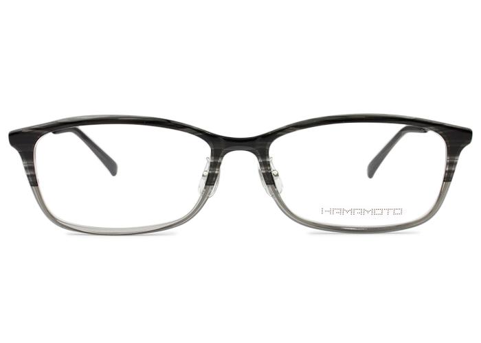 ■ハマモト HAMAMOTO■ht-563 c.3 ht9グレーハーフ×クリア/ブラック■伊達 メガネ めがね 眼鏡■度付き メンズ レディース 新品 送料無料
