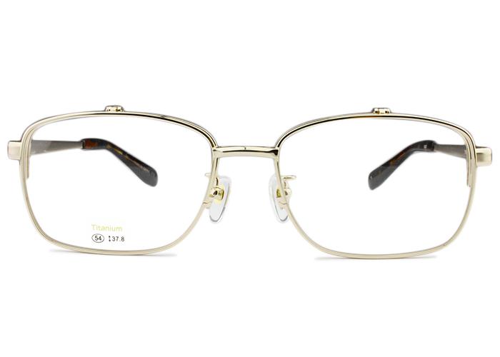 アイカフェ EYE CAFE3221 c.1 54 ゴールド単式 複式 跳ね上げ メガネ めがね 眼鏡 送料無料