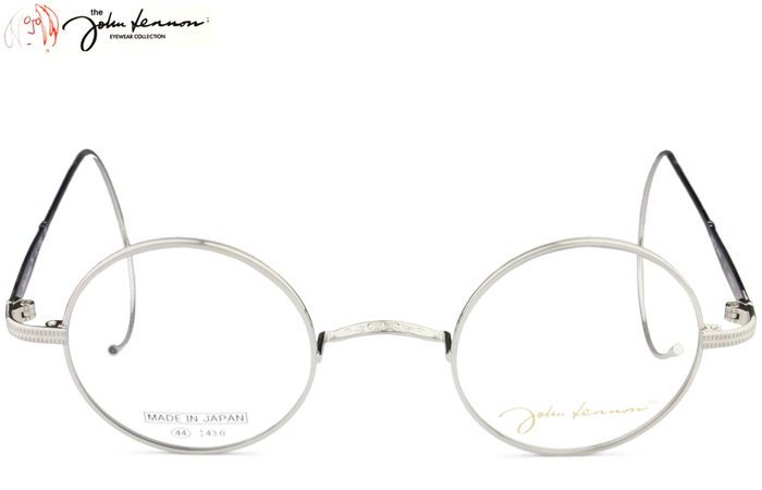 ジョンレノン John Lennon JL-1050 c.1 ヘアラインシルバーグレー 縄手 度付き 一山 丸 伊達 メガネ 眼鏡 めがね メンズ レディース 新品 送料無料 jl5
