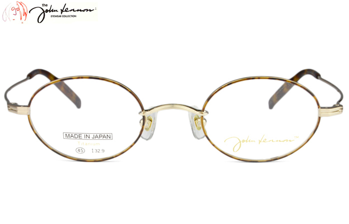 ジョンレノン John Lennon JL-1065 c.1 ヘアラインゴールド/デミ 度付き メガネ 眼鏡 めがね 新品 送料無料 jl1