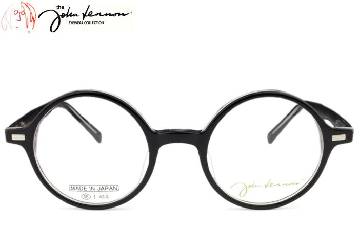 ジョンレノン フレーム John Lennon JL-6013 c.1 ブラック/クリア 丸 メガネ 眼鏡 めがね 伊達 ダテ 新品 送料無料 メンズ レディース jl12