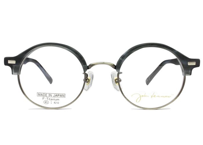 ジョンレノン John Lennonjl-6014 c.2 グレーササ(MT)・アンティークシルバーメガネ 伊達 クラシカル レトロ眼鏡 メンズ レディース 新品 送料無料 jl1