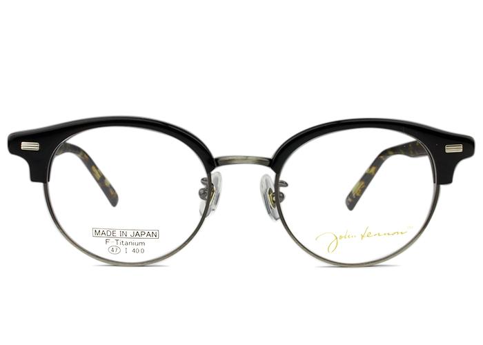 ジョンレノン John Lennonjl-6015 c.2 ブラック X アンティークシルバー/イエローデミメガネ 伊達 クラシカル レトロ眼鏡 メンズ レディース 新品 送料無料 jl1