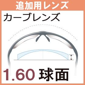 【追加用】度付き カーブレンズ 1.60球面レンズ(2枚一組)