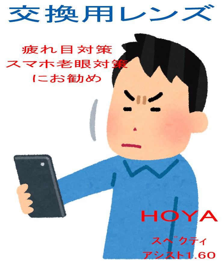 【フレーム持ち込み交換用】HOYA 度付き 調節力サポートレンズ スペクティHGアシスト(2枚一組)